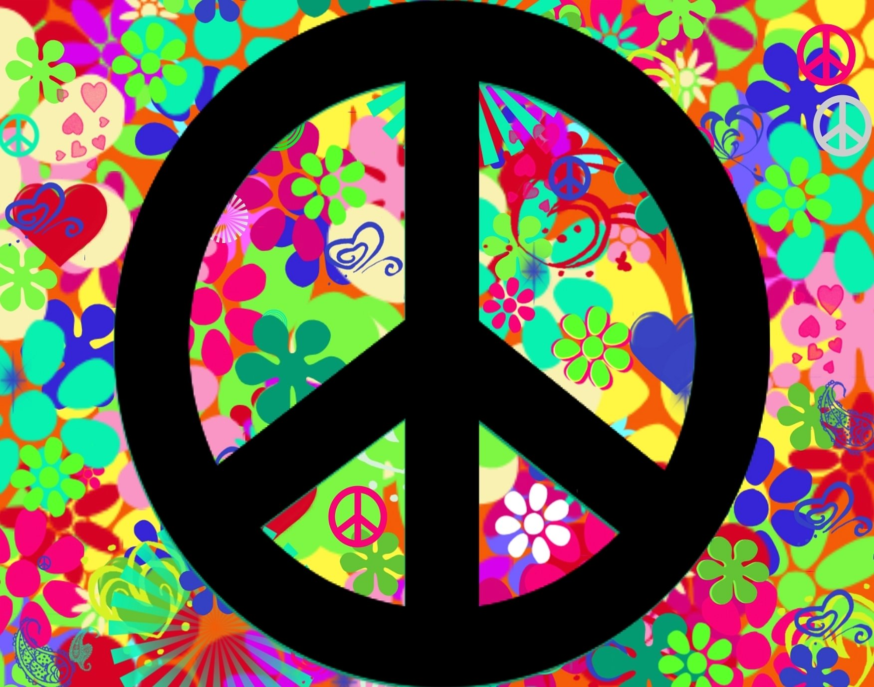 Cute Peace Signs Wallpaper Peace sign backgrounds cake 1752x1378