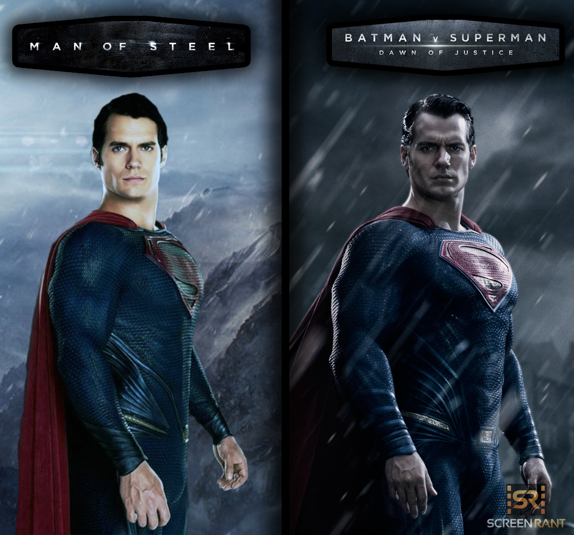 Batman V Superman and Man of Steel Superman Costume Comparisonjpg 1129x1054
