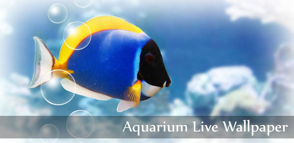 free android live wallpapers aquarium live wallpaper 600x293
