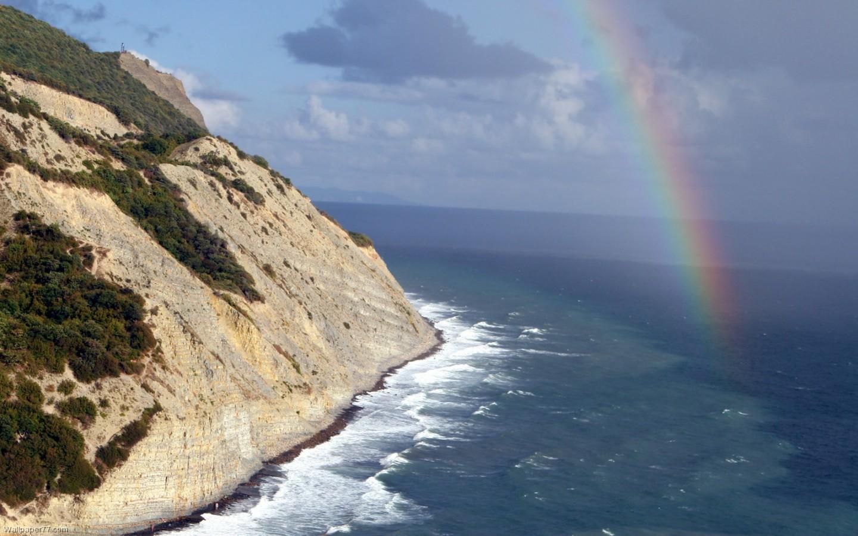 Rainbow Storm 1440x900 pixels Wallpapers tagged Beach Landscape 1440x900