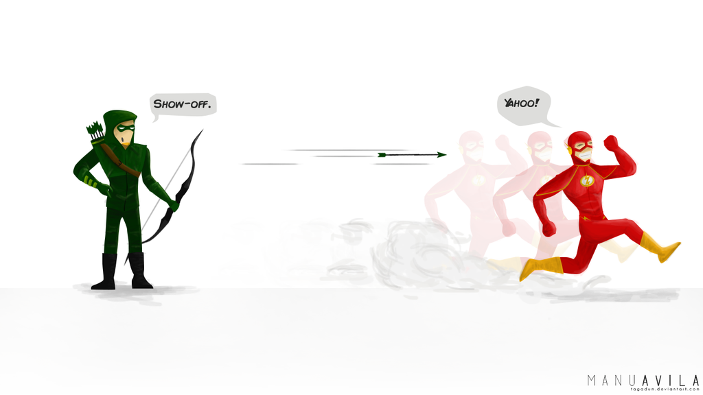 Arrow and The Flash Wallpaper by tagadum 1024x576