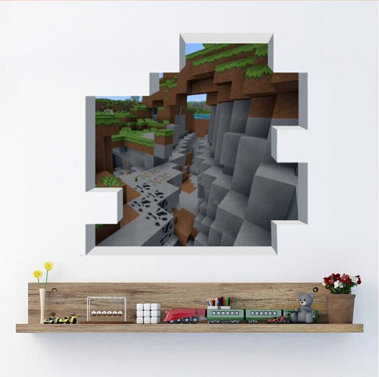 Newest Minecraft Wall Stickers Wallpaper Kids Room Decal Minecraft 749x745