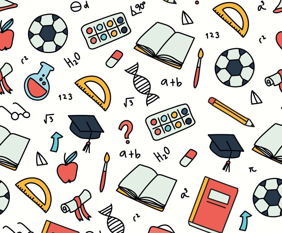 Educational Background Pattern Vector Art Graphics freevectorcom 1136x936