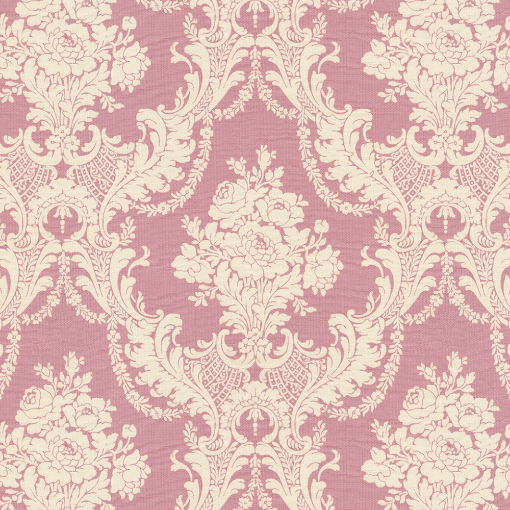 Rose Pink Damask Fabric By The Yard Carousel Designs 1000x1000