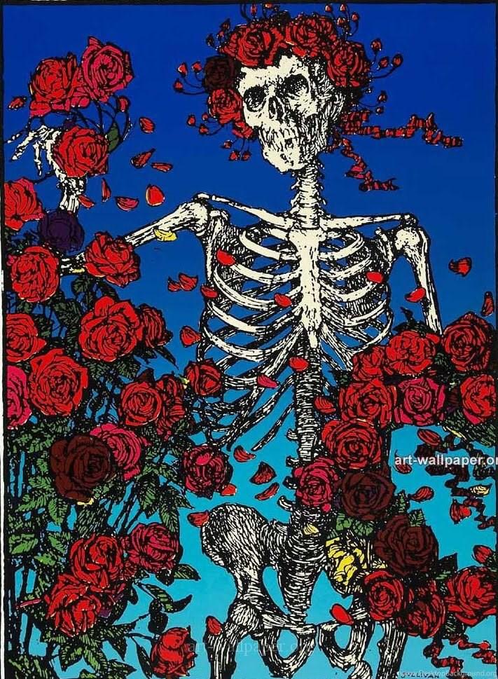 Jestingstockcom Grateful Dead Skull And Roses Wallpapers Desktop 711x969
