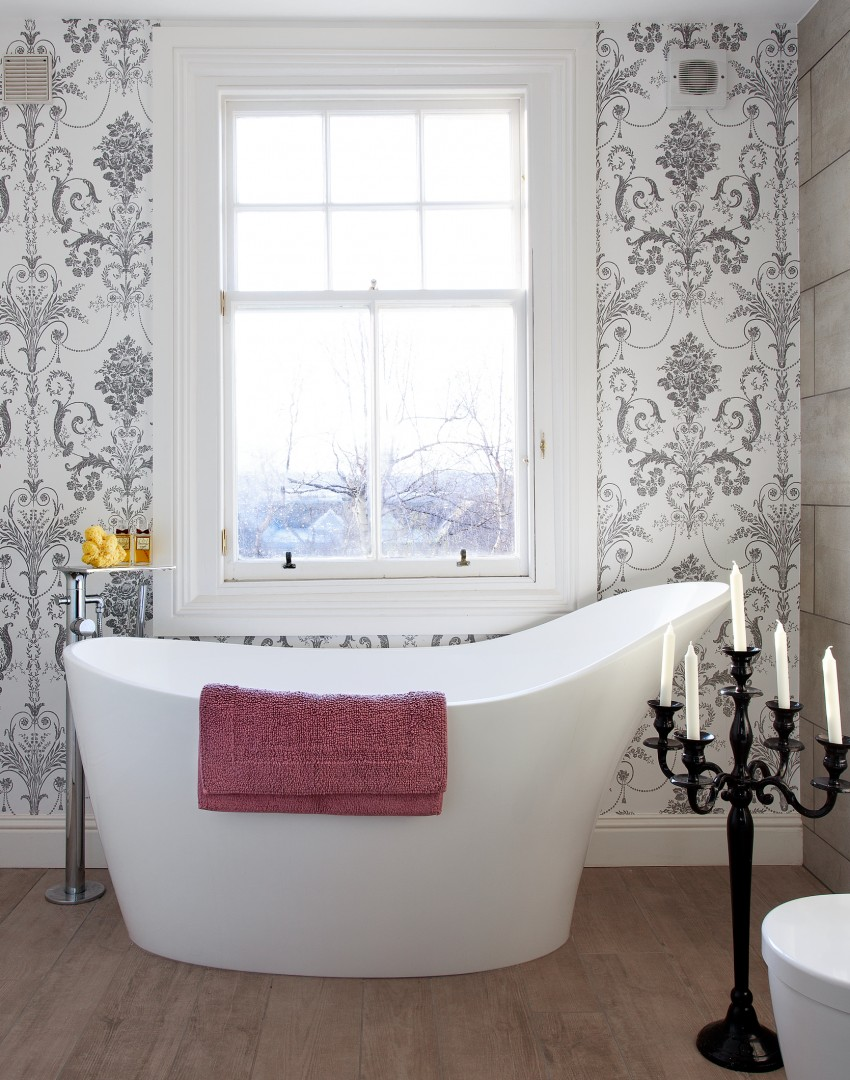 Traditional Bathroom with Statement Wallpaper   The Room Edit 850x1080