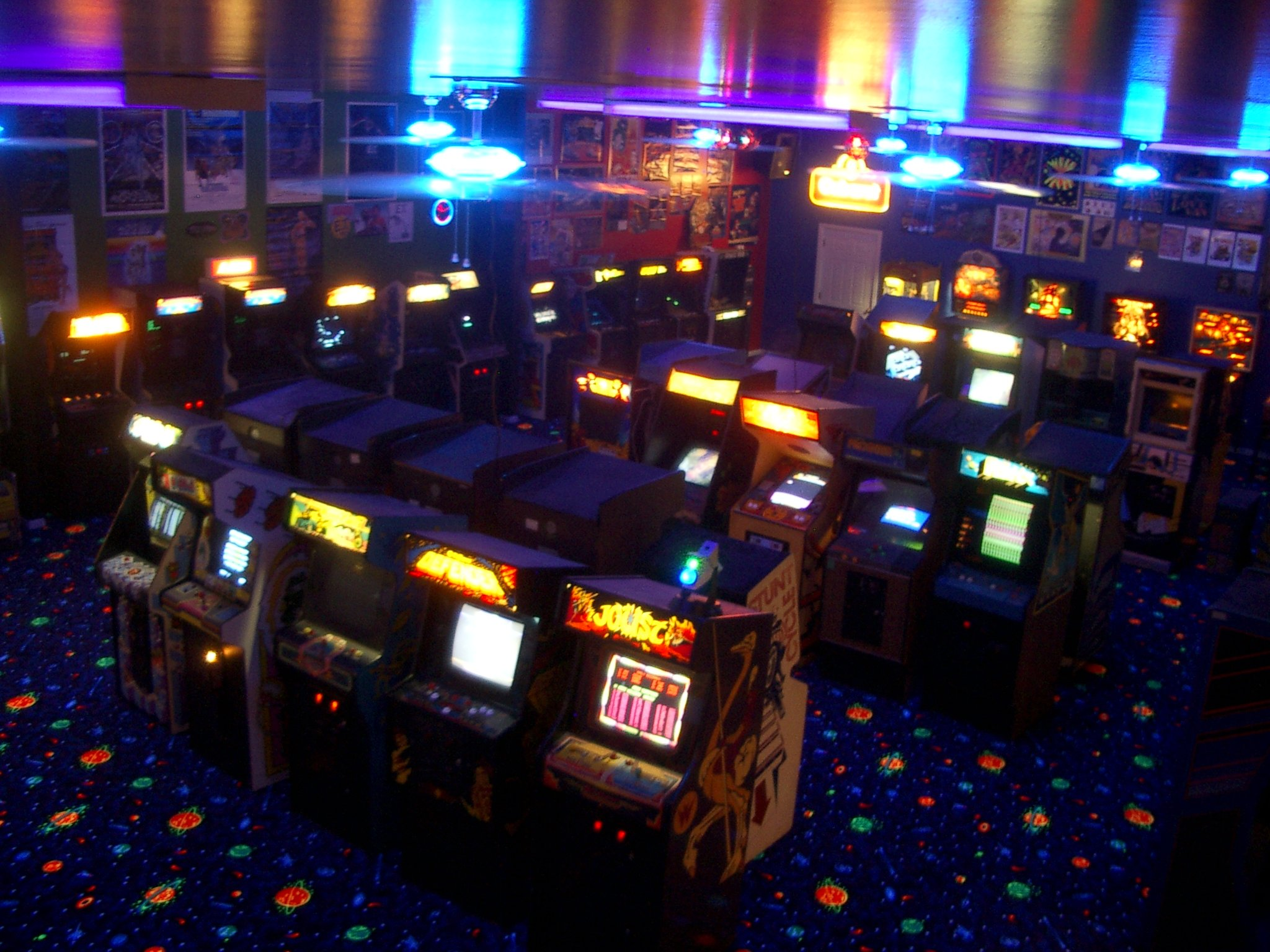 Luna City Arcade one of the home game rooms featured in the film 2048x1536