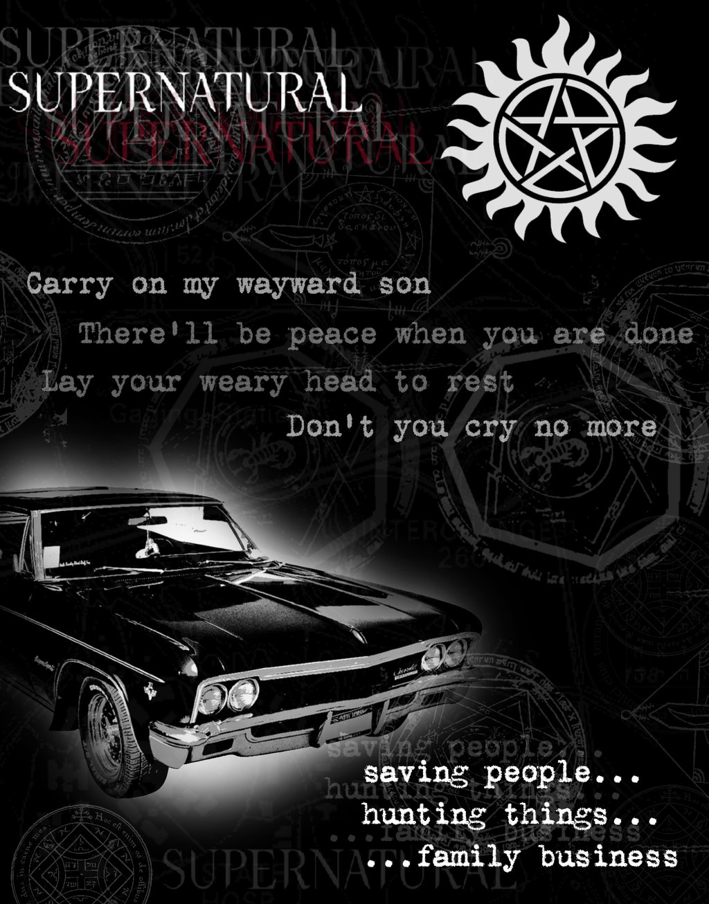 Supernatural impala by filhotedelua 1024x1306