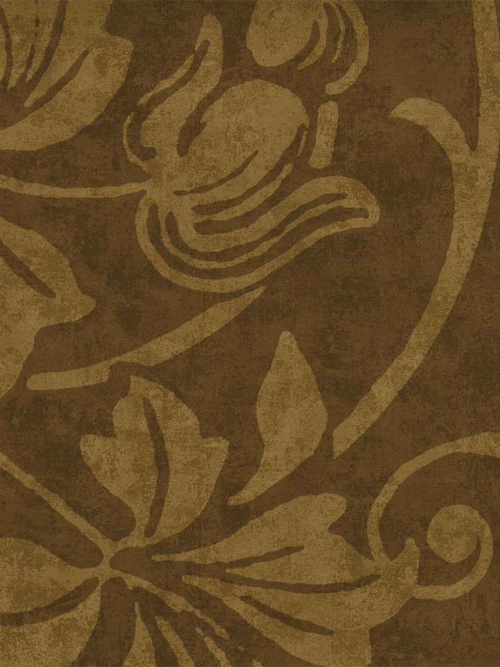 Chocolate Brown 404 87006 Textured Rustic Leaf Trail Wallpaper 720x960