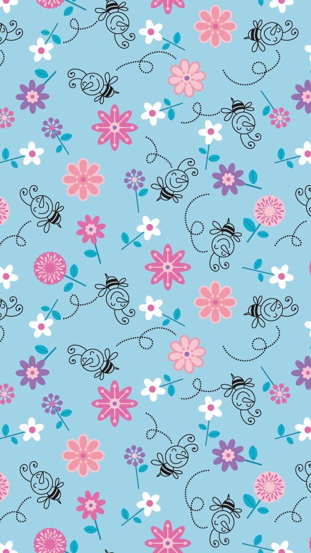 blue girly wallpaper