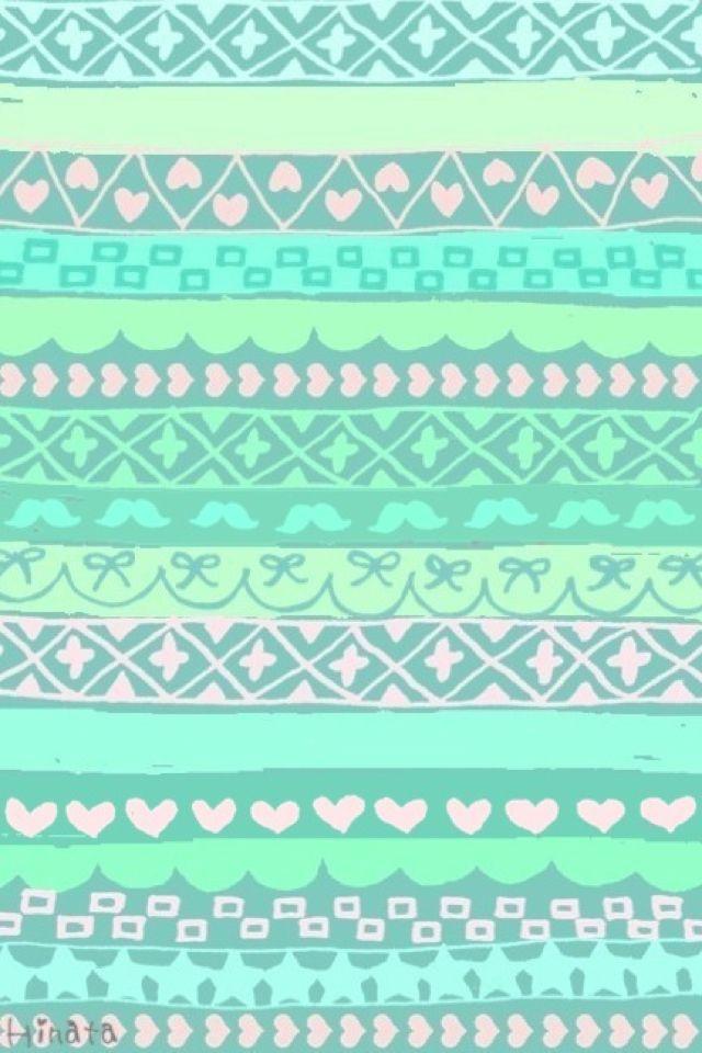 cute pastel pattern BackGround Pinterest Tribal Prints Pastel 640x960