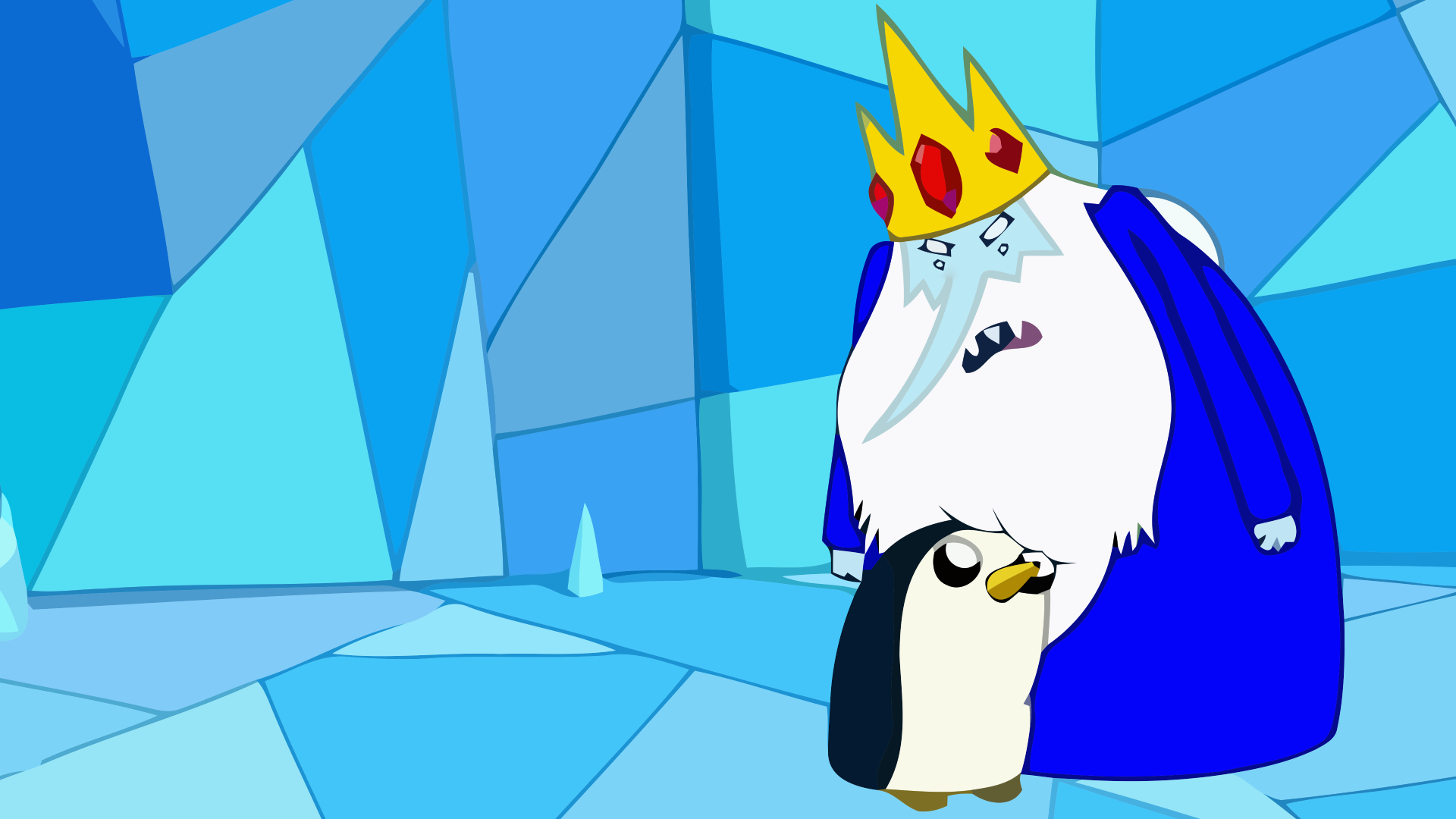 Ice King and Gunter excuse the vectors it was made 1920x1080 1920x1080