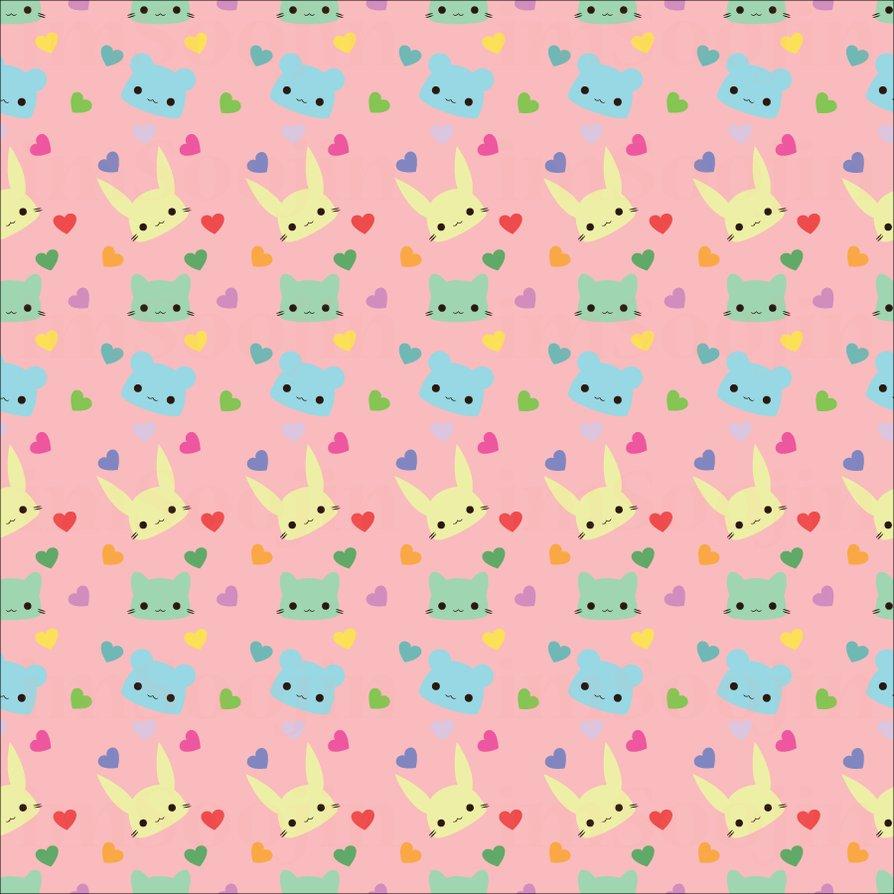 Cute Pattern Wallpaper Tumblr Cute animal pattern watermark 894x894