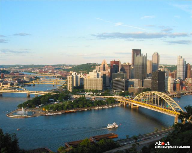 Pittsburgh Wallpaper   Desktop Wallpaper of Downtown Pittsburgh 640x512
