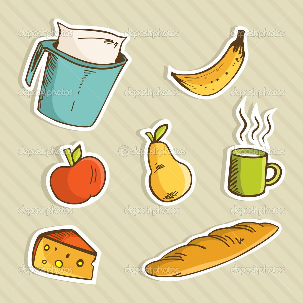 Cartoon Food Wallpaper