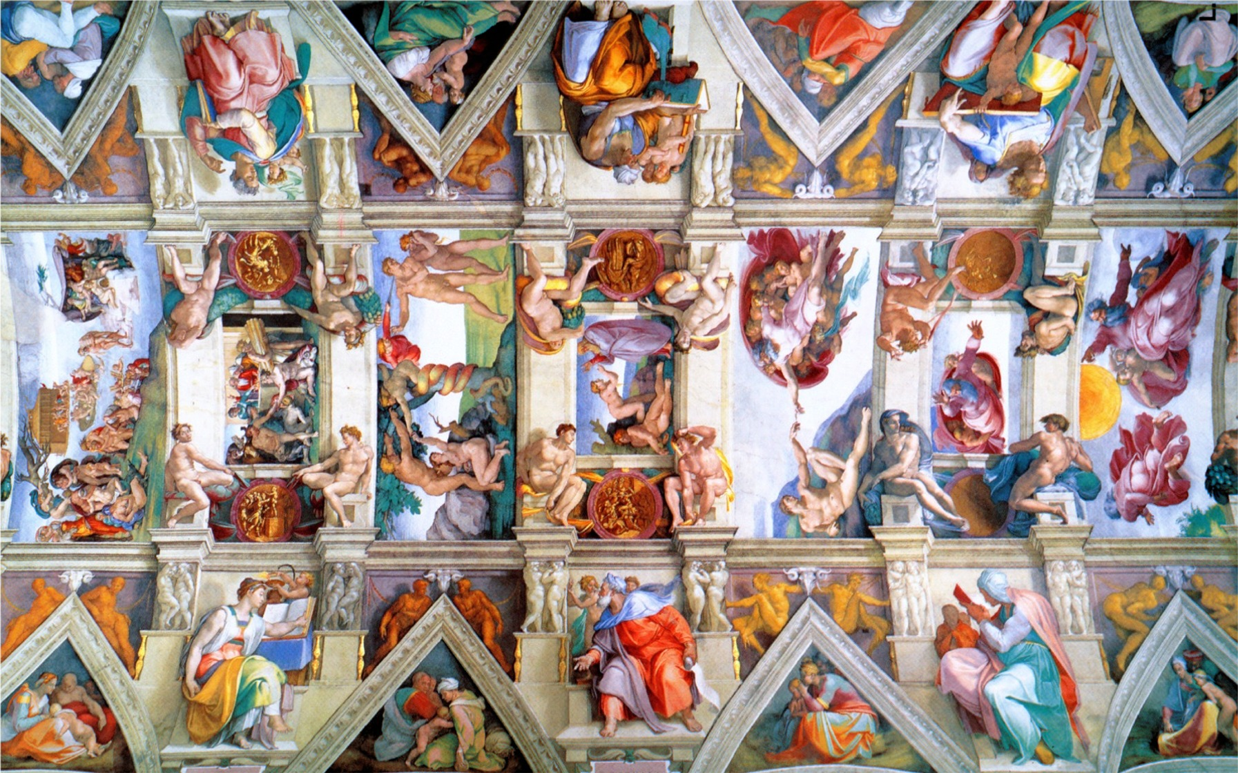 Download Pin Sistine Chapel Wallpaper Fever [1793x1120] 47 1793x1120