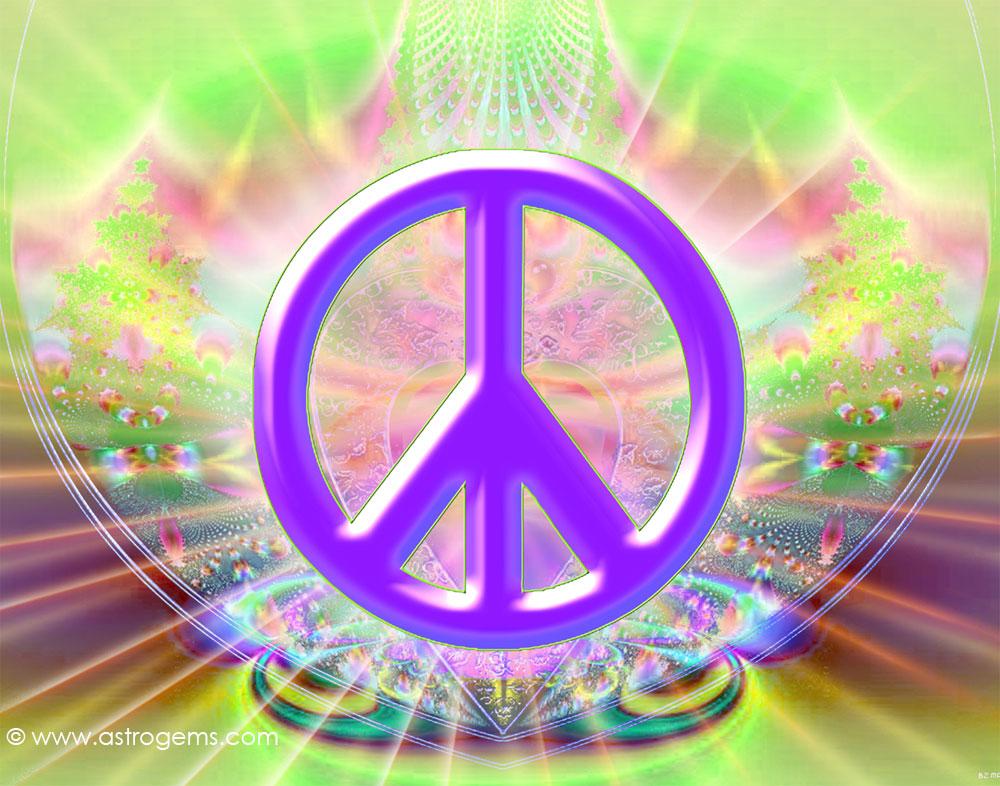 PS84 Peace sign wallpaper 1000x786