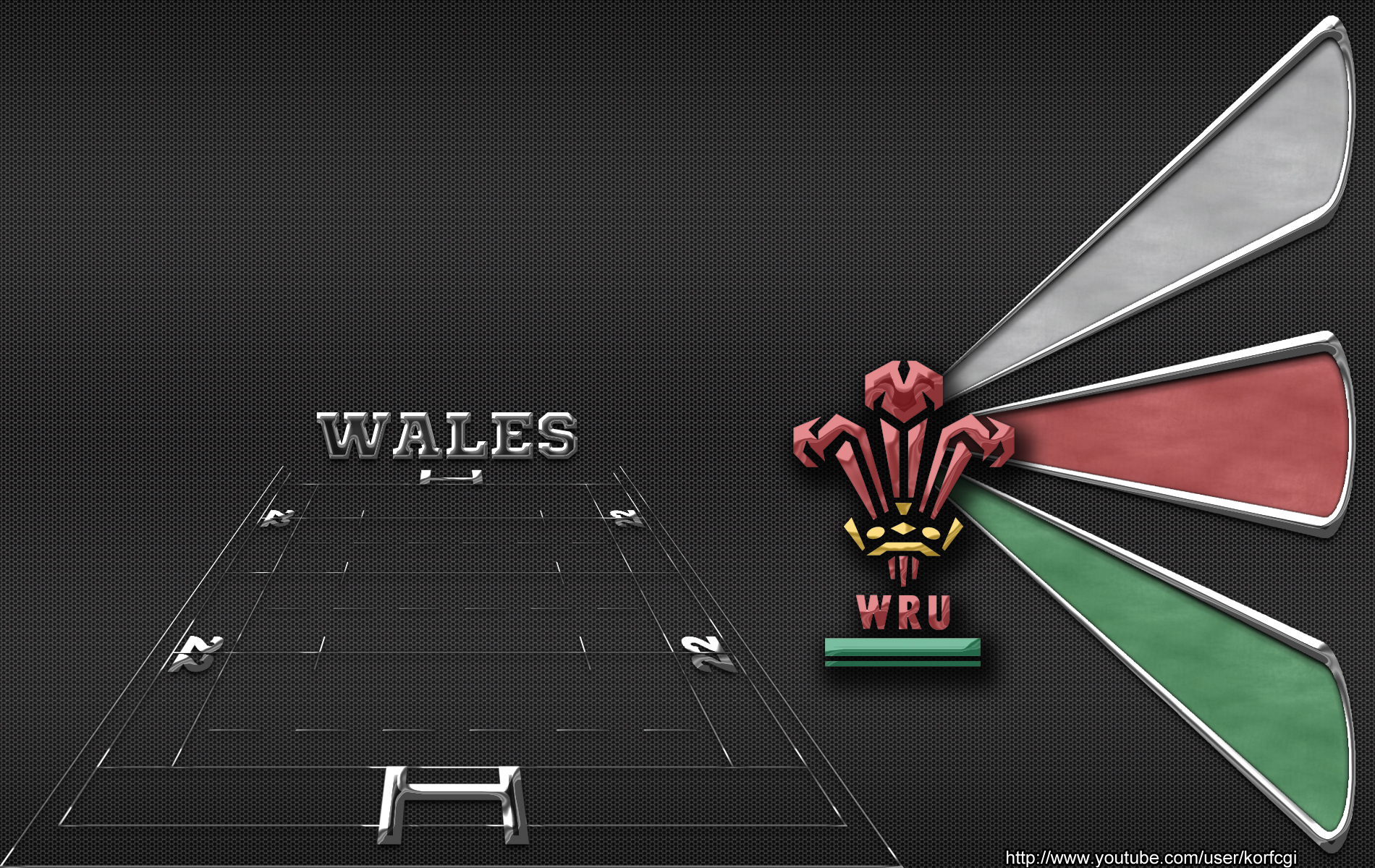 Wales rugby wallpaper by KorfCGI 1900x1200