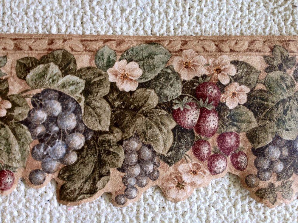 Kitchen Wallpaper Border Tuscan Fruit eBay 1000x750