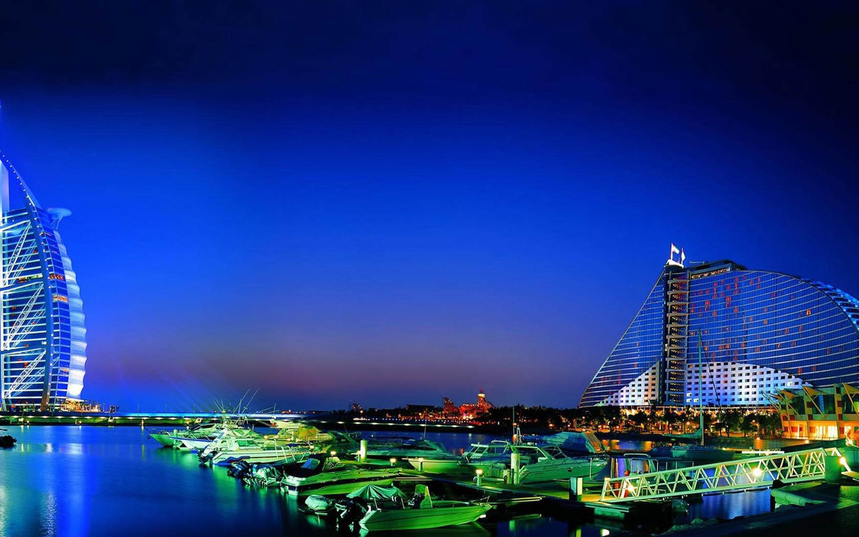 Dubai at night wallpaper 1347 1680x1050