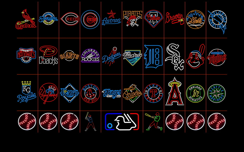 HD MLB Neon Logos Desktop Wallpapers   Ventubecom 1440x900