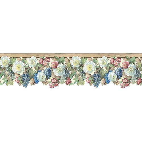 FloralGrape Trellis Die Cut Wallpaper Border   Walmartcom 500x500