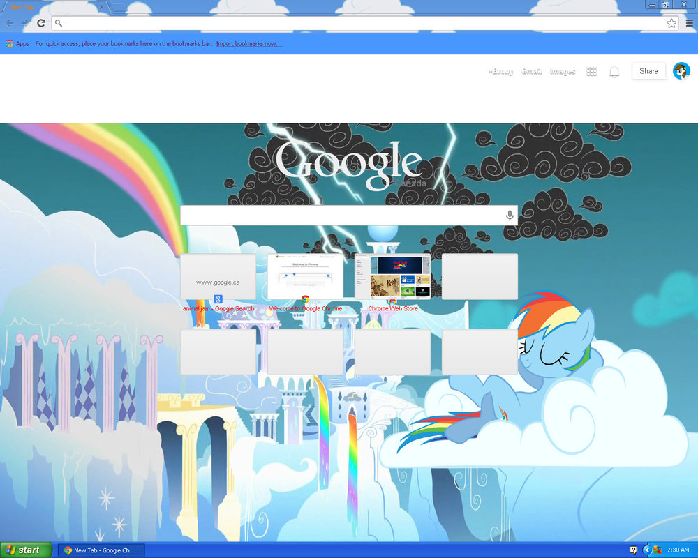 My new Google Chrome Background by Pepper124 1000x800
