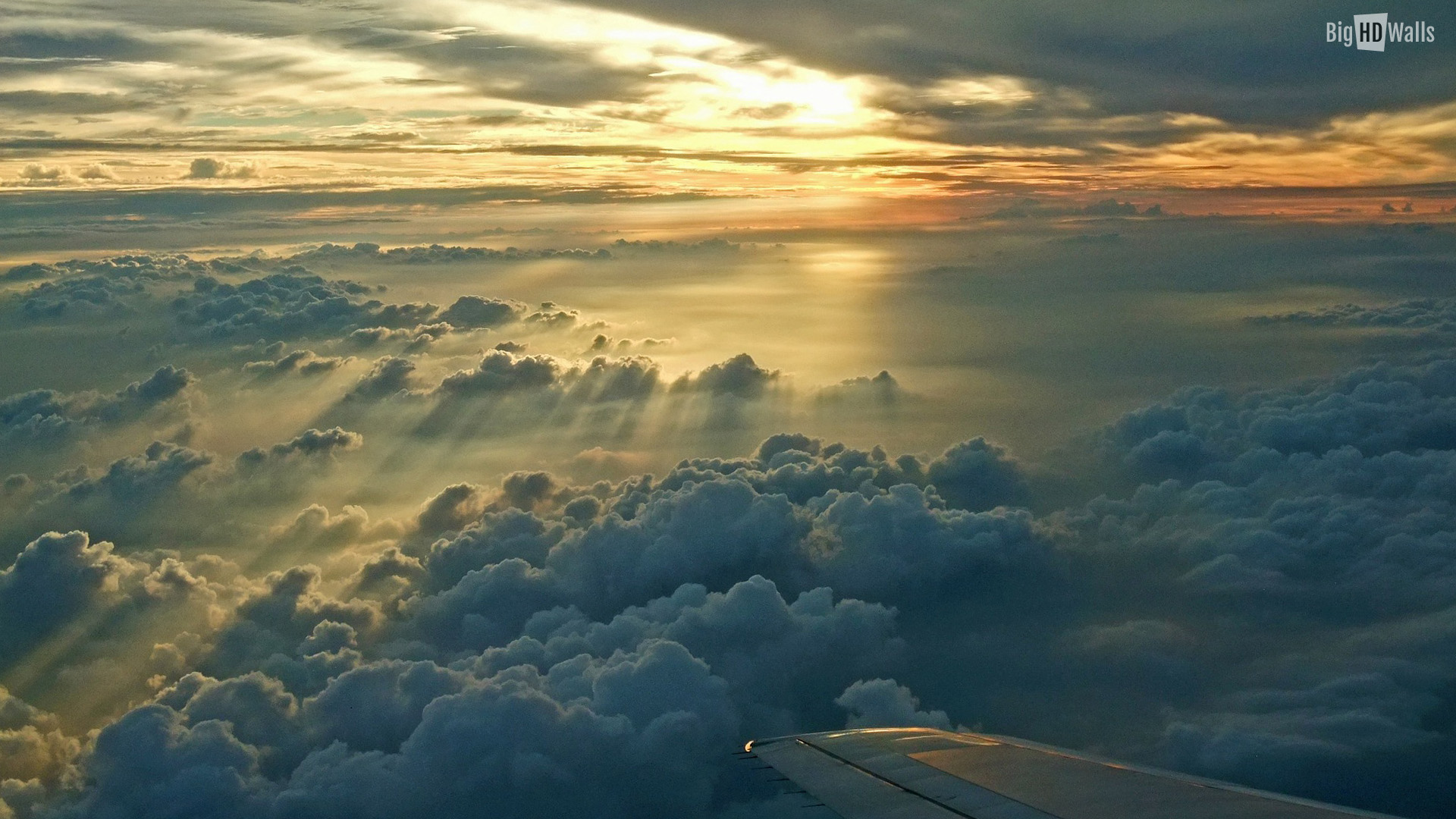 of sunset taken from a plane Download this sunset HD Wallpaper 1920x1080