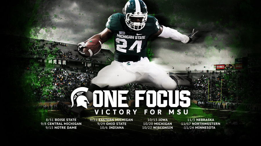 MSU 2012 Schedule   HD Wallpaper by madeofglass13 900x506