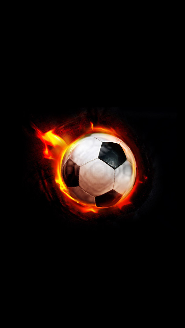 iPhone 5 wallpapers HD   Flame football Backgrounds 640x1136