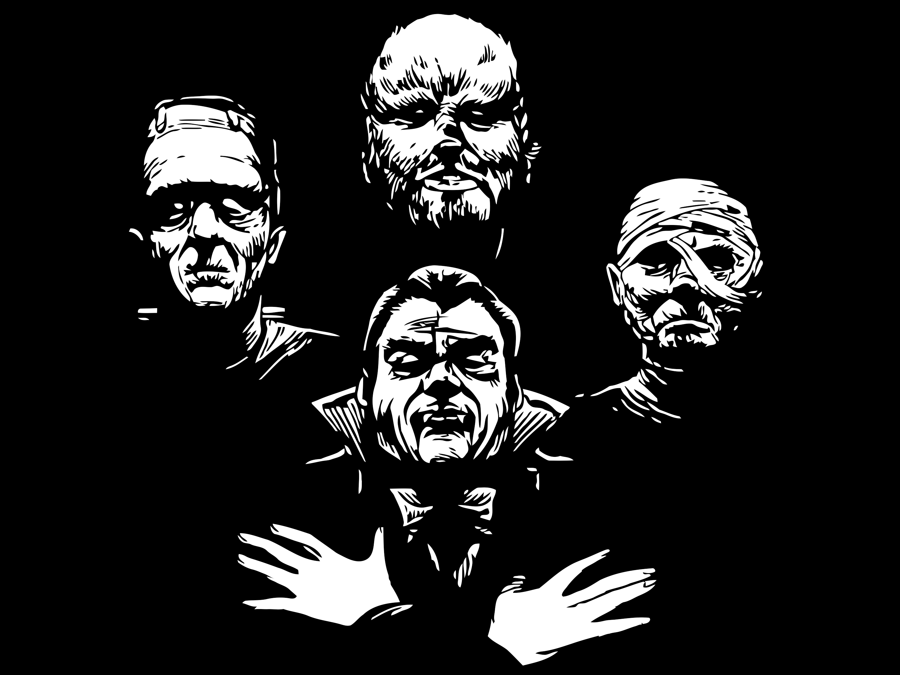 Classic Horror Monsters Wallpaper For   classic monsters 2880x2160