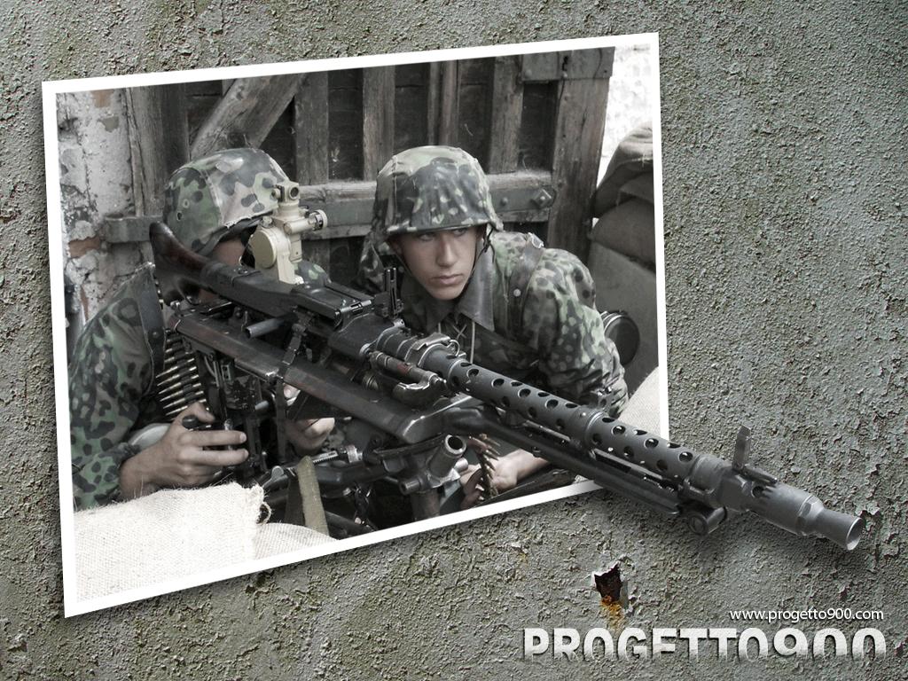 comimgprogetto900 wallpaper waffen SS leibstandarte MG34 01jpg 1024x768