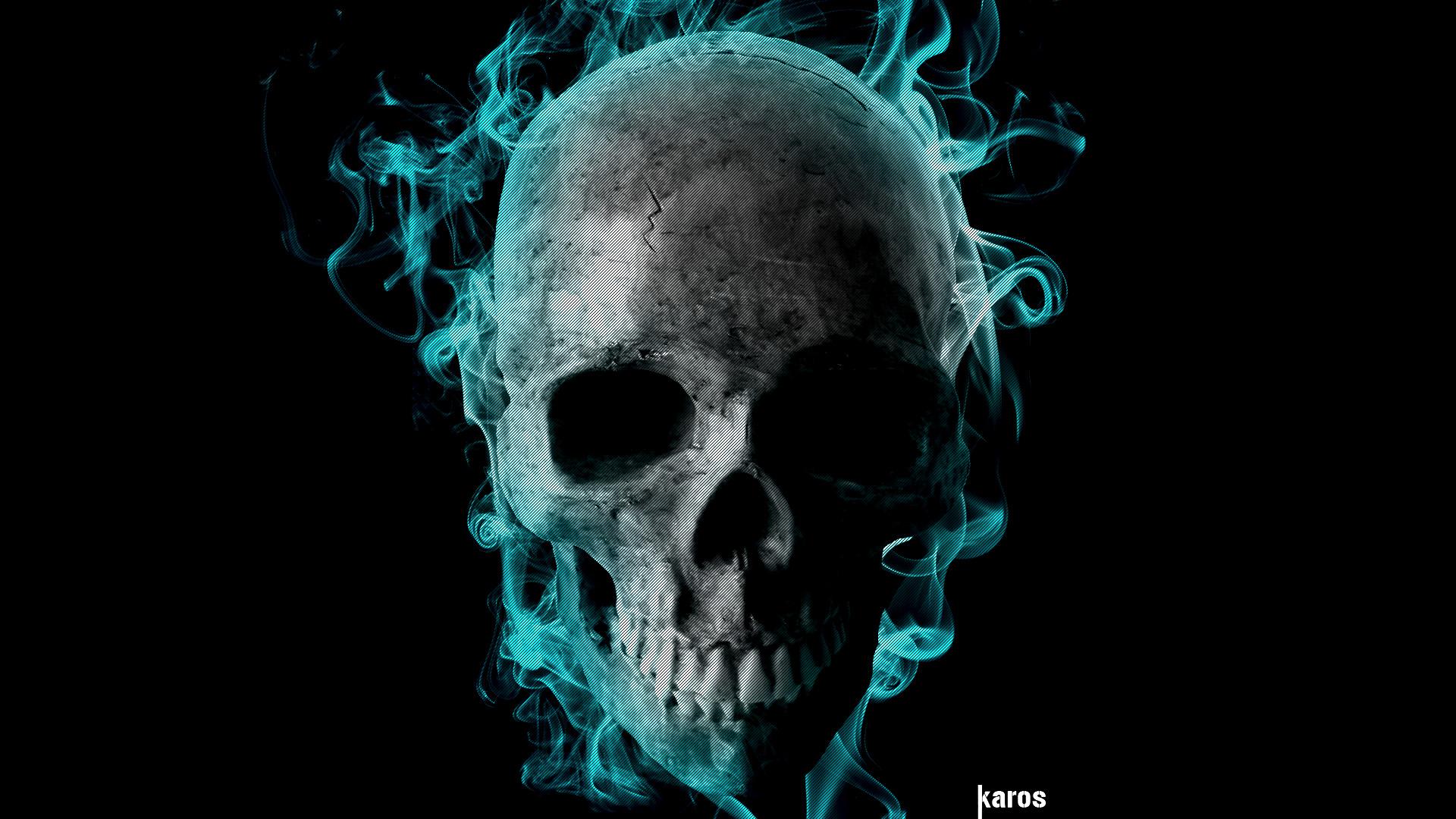 Flaming Skull by romulocarrijo 1920x1080