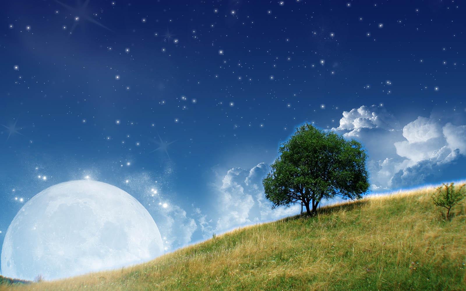Moon Nature Wallpapers Desktop Wallpaper 1600x1000