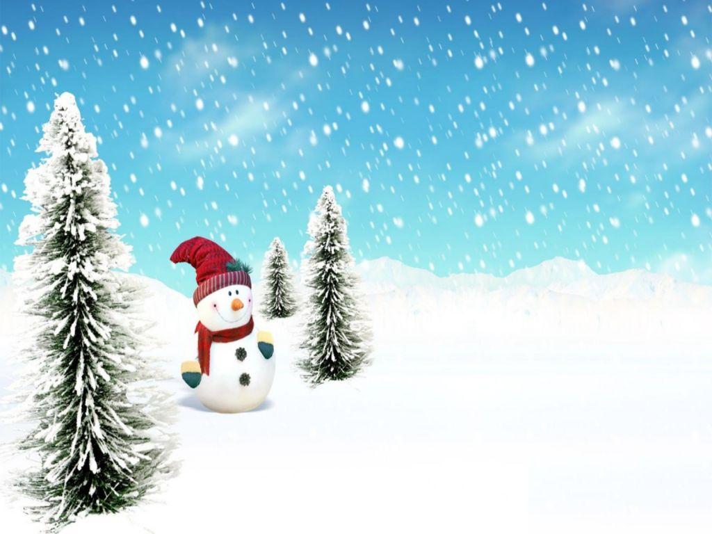christmas snow desktop backgroundsjpg 1024x768
