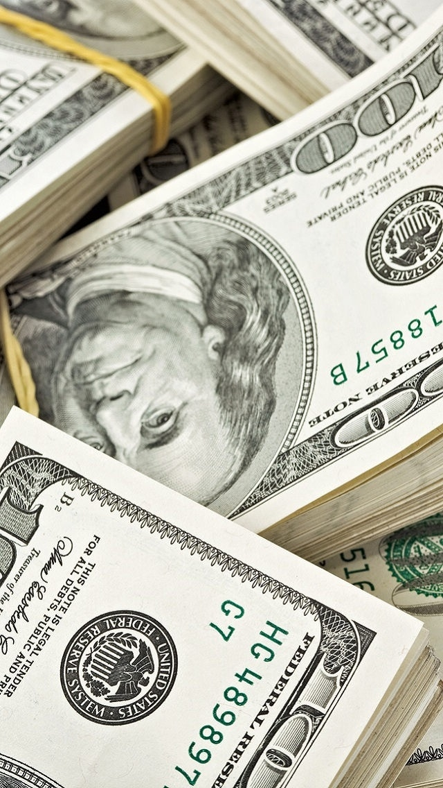 Stacks of money iPhone 5 Wallpaper 640x1136 640x1136