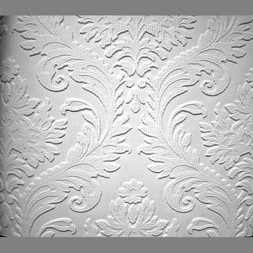 Textured Vinyl Turner Tile Classical Paintable Wallpaper by Burke 500x500
