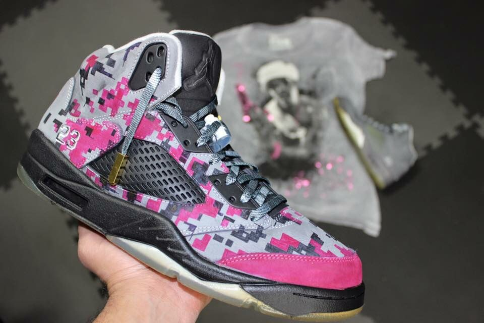 Digicamo Jordan 5s hand painted on suede Check out the detail and 960x640