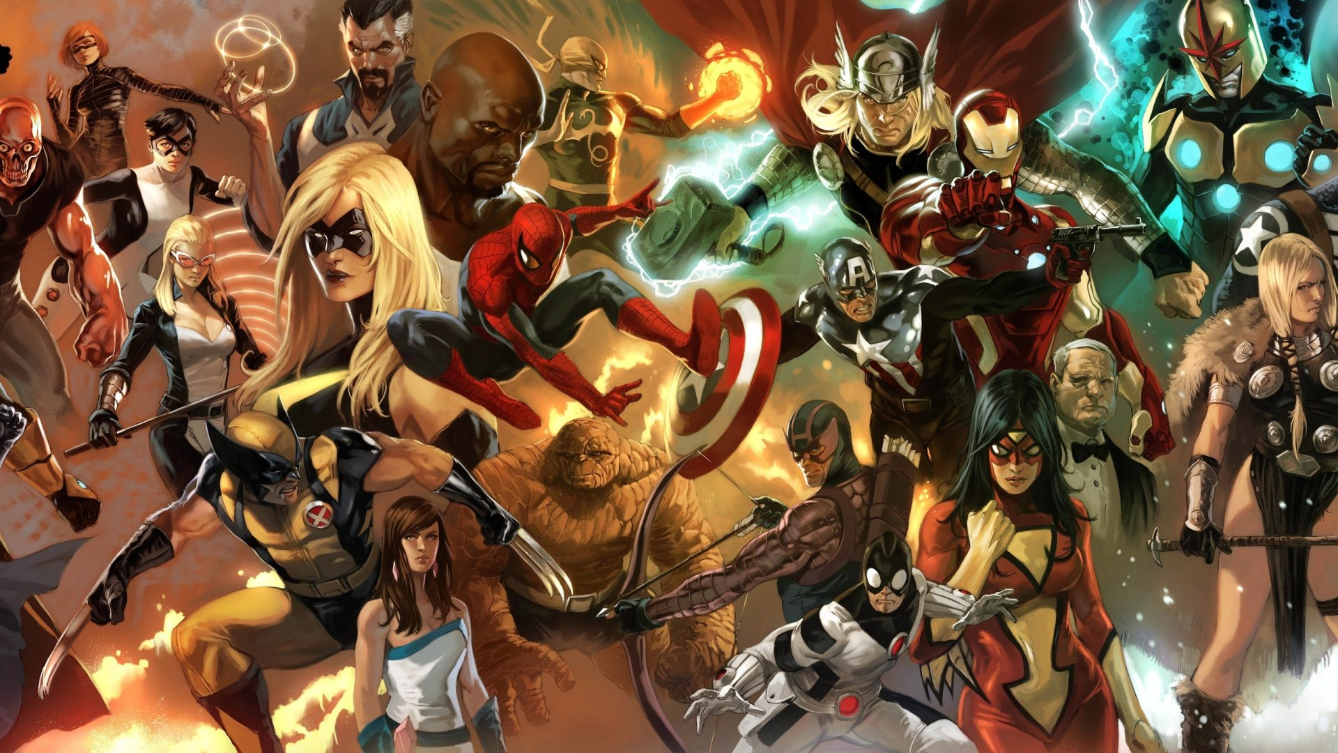Superheroes In Marvel Comics Hd Wallpaper Wallpaper List 1920x1080
