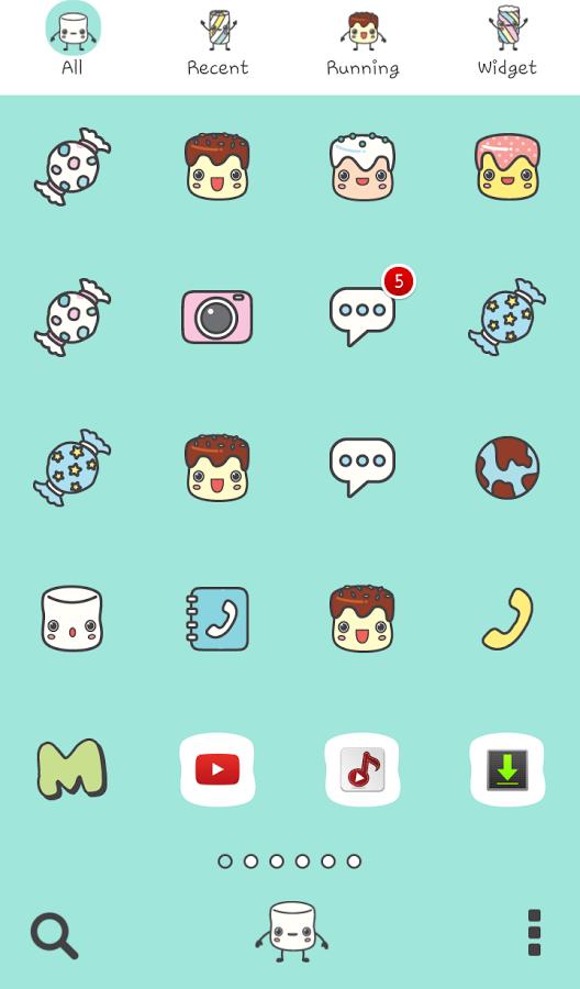 marshmallow friend dodol theme   screenshot 528x900