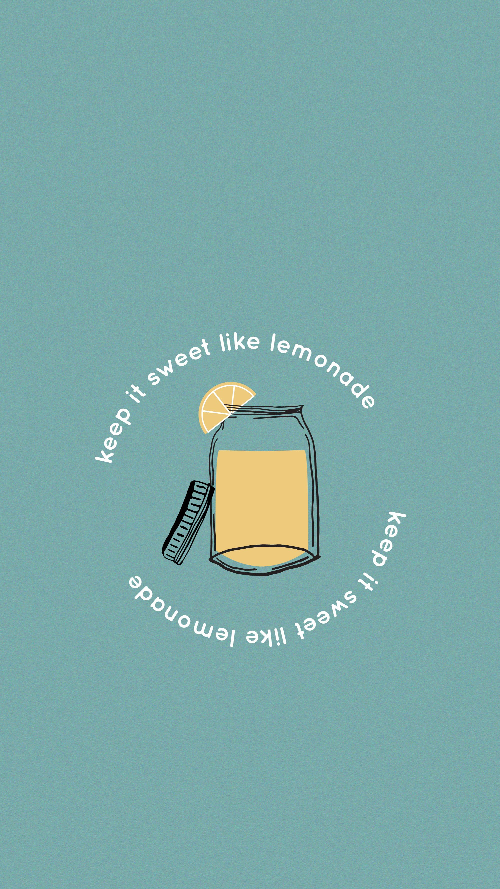 Keep It Sweet Like Lemonade Matt Wertz Wallpaper iphone 2000x3557