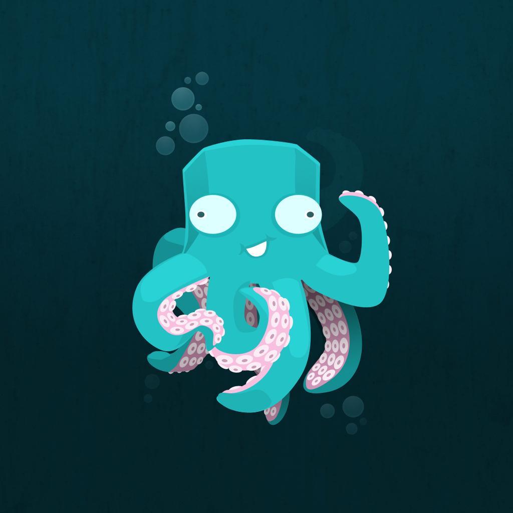 iPad Wallpapers Cartoon octopus   Cartoon Comics iPad iPad 2 iPad 1024x1024