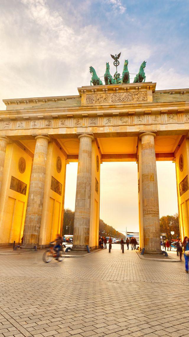 Wallpaper Brandenburg Gate Berlin Germany Tourism Travel 640x1138