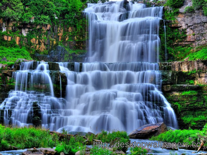 Living Waterfall Wallpaper Desktop Wallpapers Download 700x525