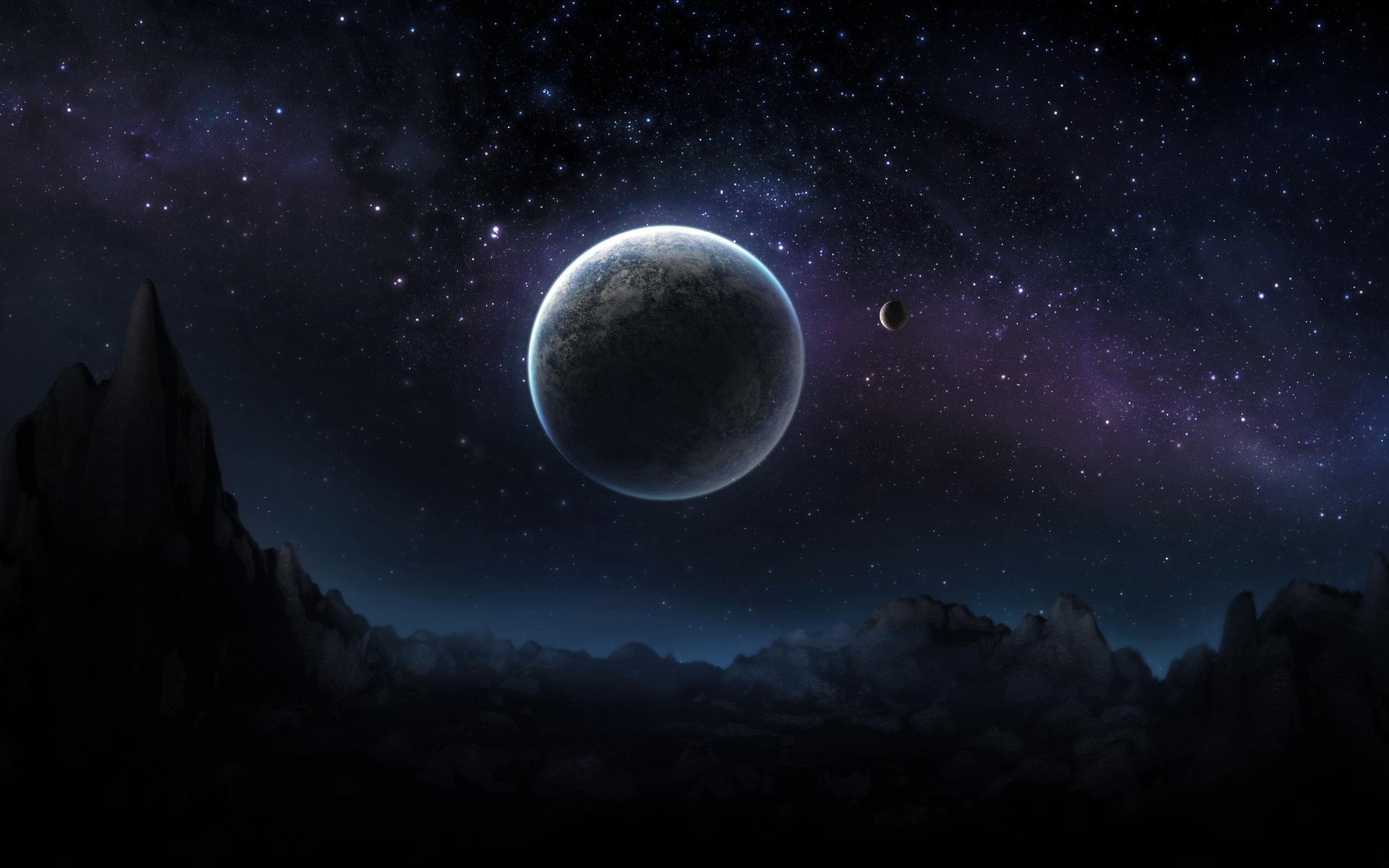 Scene Photo At Dark Night For Desktop Background Wallpapers