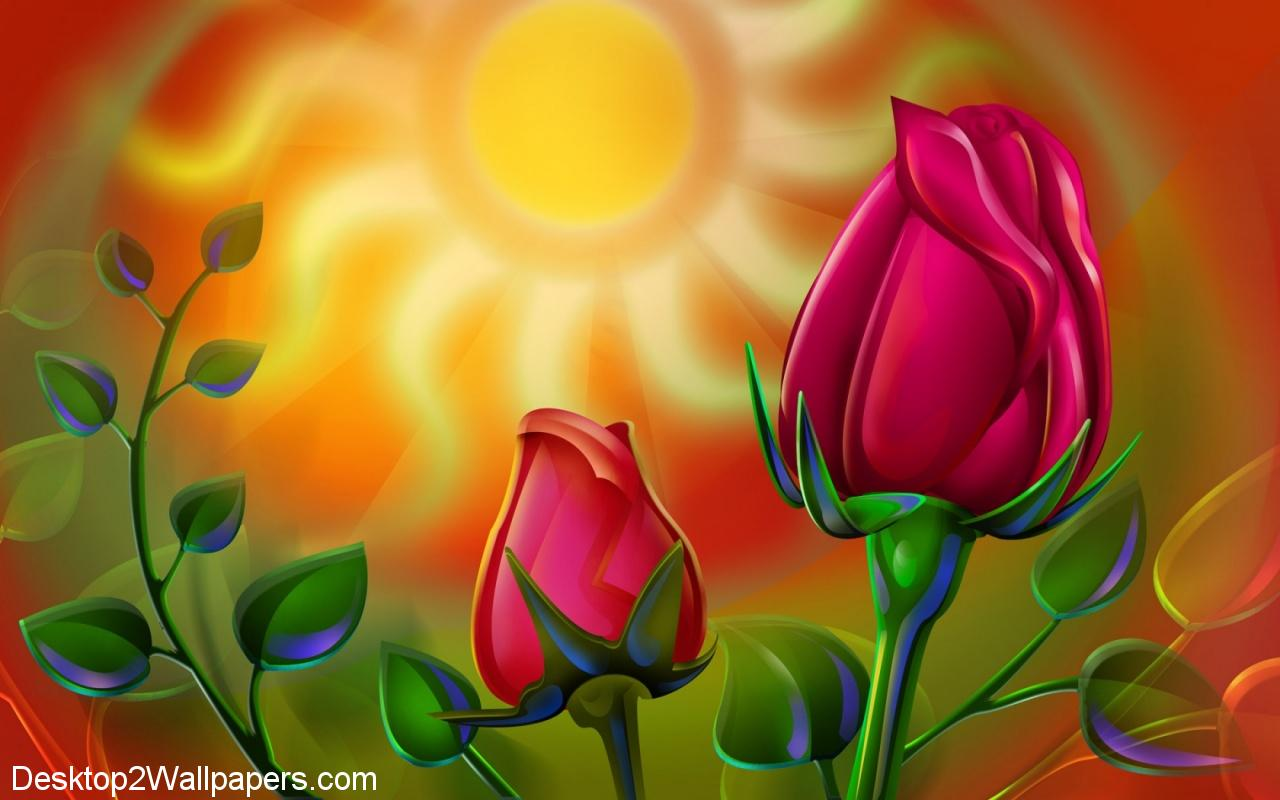 Sun rose wallpaper flowers hd desktop wallpapers at   Wallpoop 1280x800