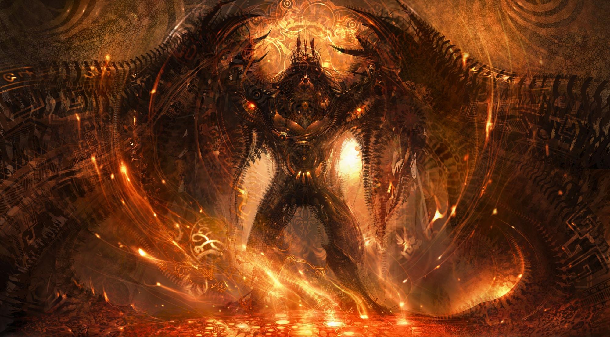 Dark Demon Wallpaper 2000x1104 Dark Demon 2000x1104