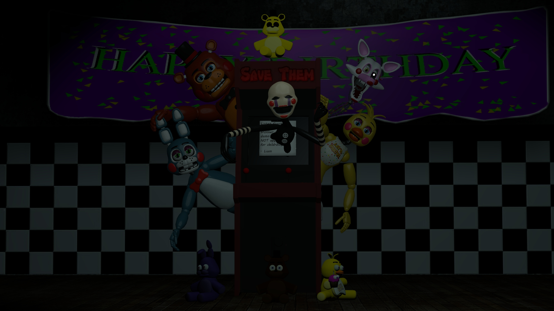 lets play a game fnaf 2 wallpaper by datfurryoverthere 1920x1080