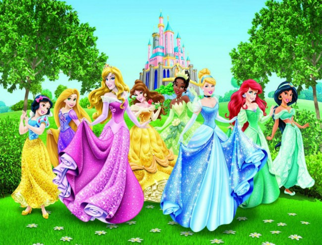 Home Disney Princesses Wall Mural 650x494