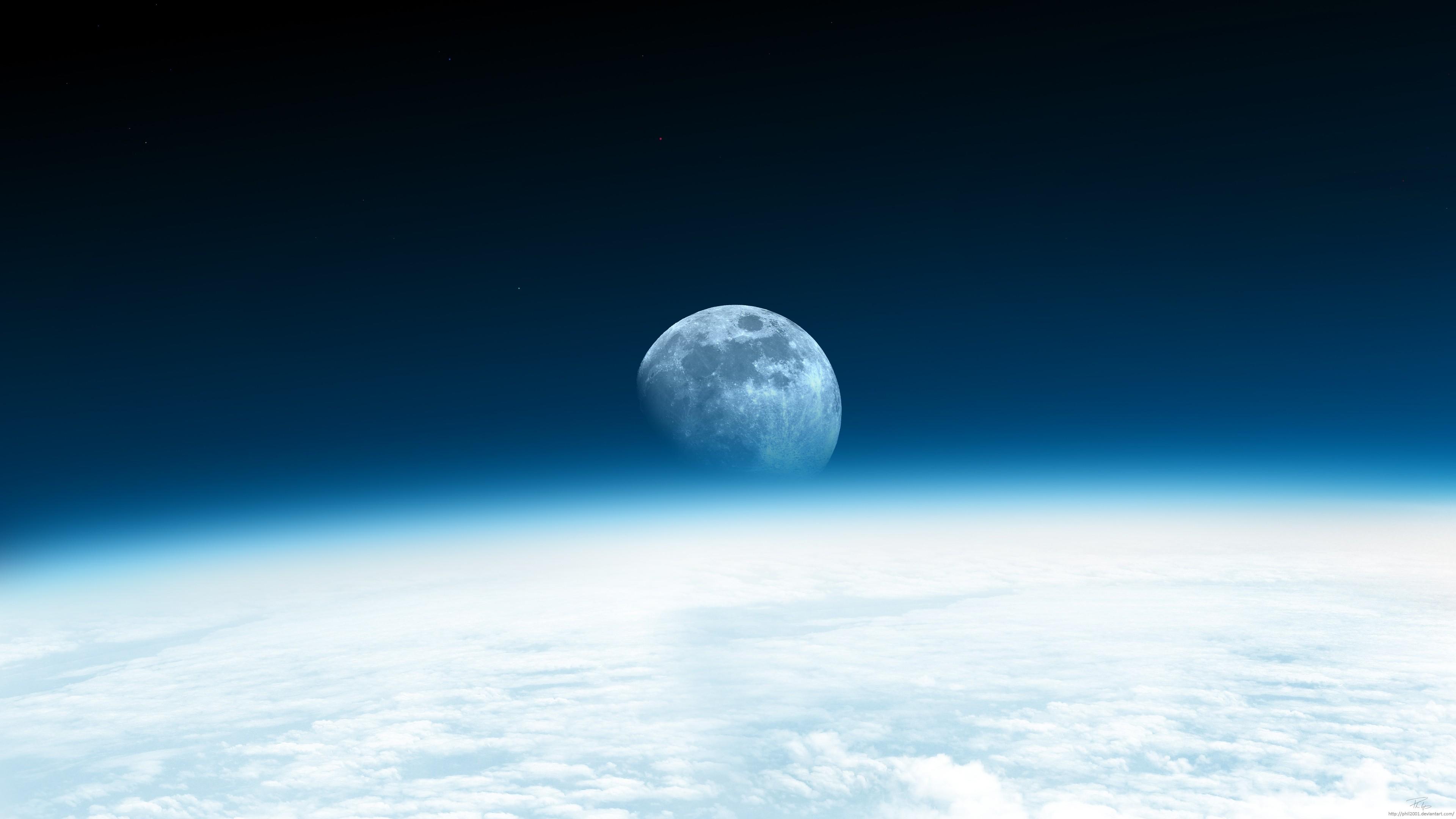 Moon Rise 4k Resolution Background Desktop Wallpapers HD 4k 3840x2160